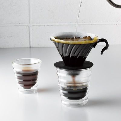 hario v60 coffee glass pourover